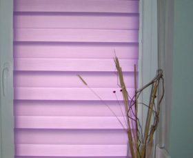 рулонные шторы день-ночь на пластиковые окна - фото