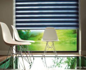 Фото - рулонные шторы день-ночь