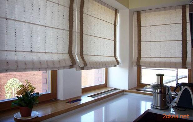 Фото - римская штора на кухне