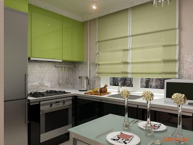 Фото - римские шторы на кухню