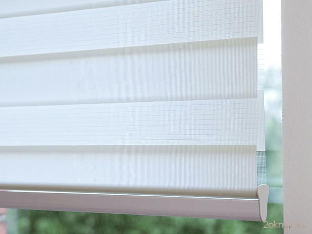 Рулонные шторы зебра на пластиковые окна