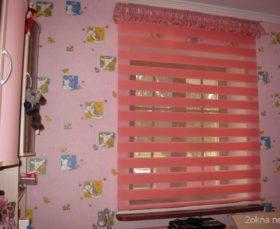 Рулонные шторы зебра в детской комнате