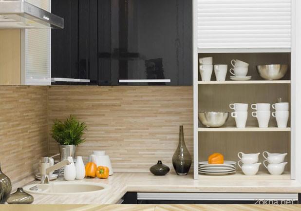 Фото - мебельные ролеты на кухне