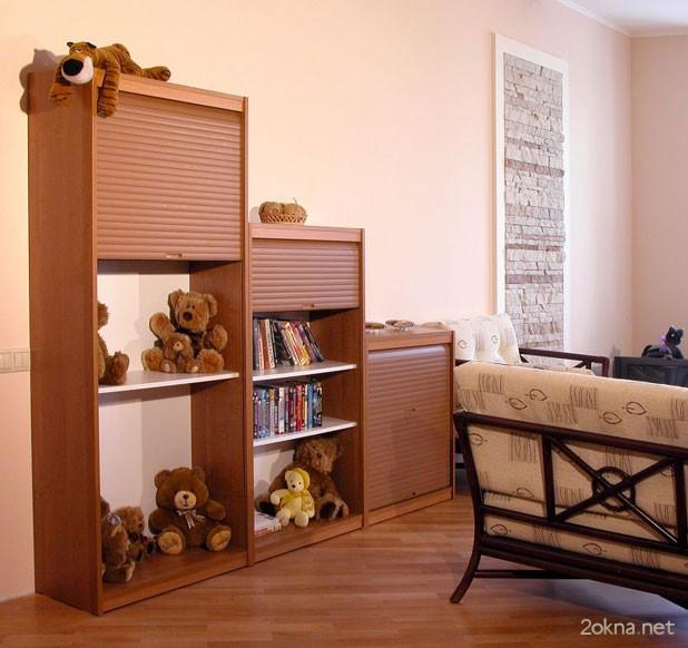 Мебельные ролеты в детской комнате - фото