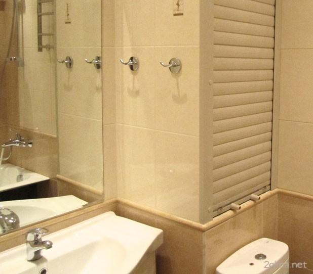 Фото - мебельные рольставни в ванной