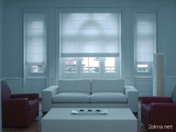 Фото - ролл-шторы в гостиной