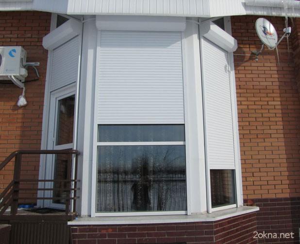 Рольставни на эркерное окно на даче