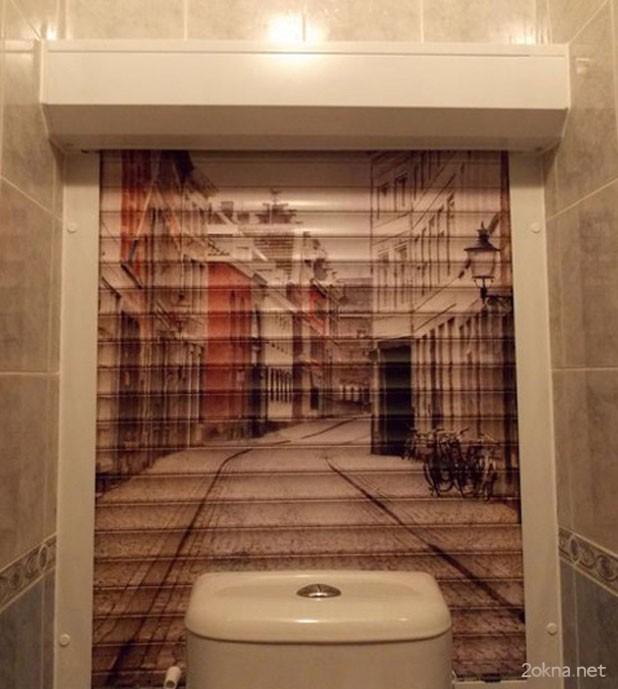 Фотопечать на рольствнях в туалете