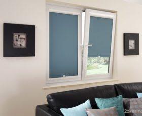 Стандартные тканевые ролеты на платиковые окна