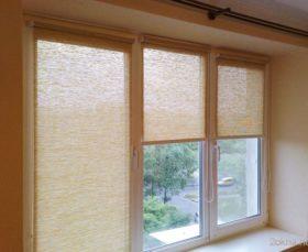 Фото - полупрозрачные тканевые ролеты на окна