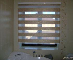 Жалюзи день-ночь в ванной комнате