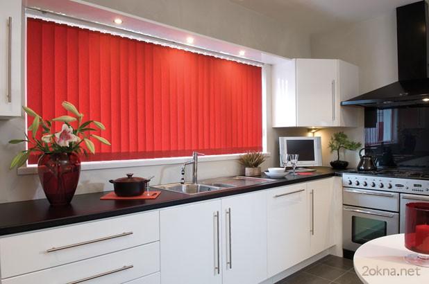 Фото - вертикальные жалюзи для кухни