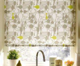 Фото - рулонные тканевые жалюзи для кухни