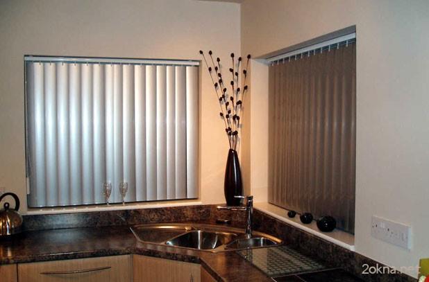 Фото - металлические жалюзи для кухни