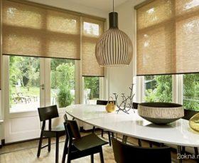 Фото - рулонные жалюзи из бамбука для кухни