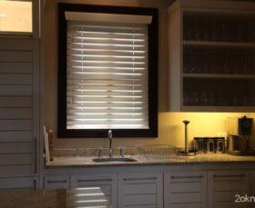 Фотография горизонтальных жалюзи на кухне