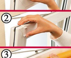 Крепления жалюзи на пластиковые окна при помощи Г-образных крючков