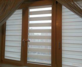 Жалюзи «день-ночь» на окна ПВХ