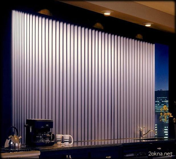 Вертикальные жалюзи на пластиковые окна без сверления