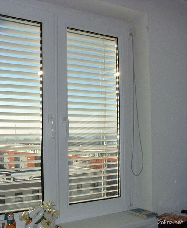 Пластиковые окна с встроенными жалюзи