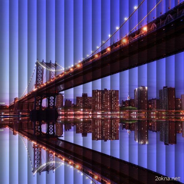 Фотопечать на жалюзи с изображением города