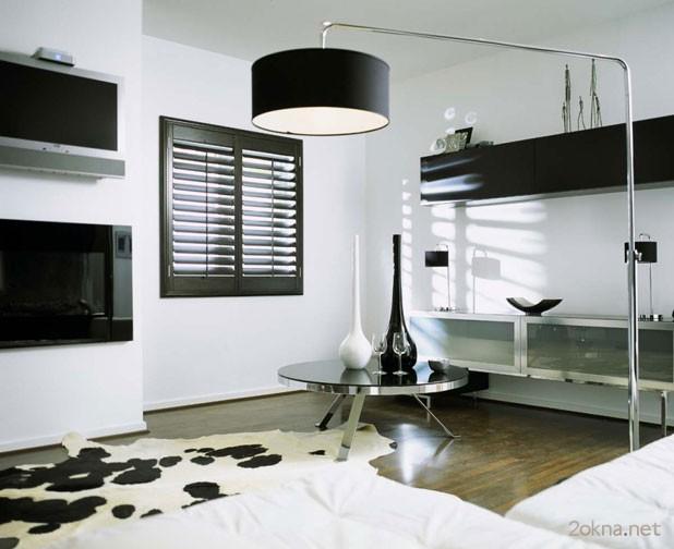 Жалюзи с электроприводом для квартиры в стиле хай-тек