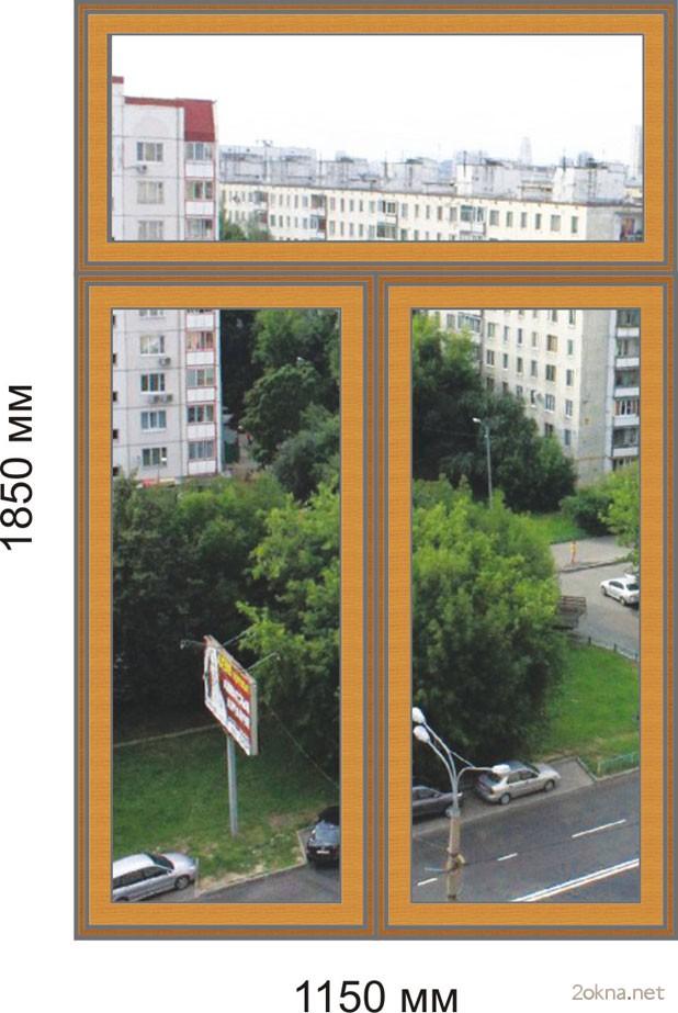 Цены на пластиковые окна стандартных размеров для Сталинки