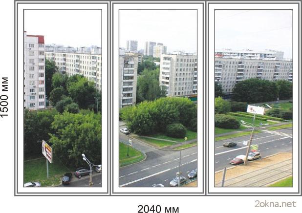 Цены на пластиковые окна стандартных размеров в Хрущевку