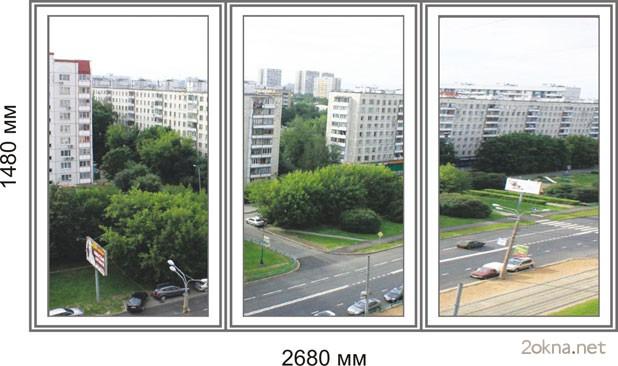 Цены на пластиковые окна стандартных размеров в Брежневке