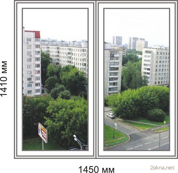 Цены на пластиковые окна стандартных размеров в домах серии 504