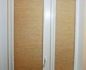 Тканевые рулонные жалюзи на пластиковые окна Уни
