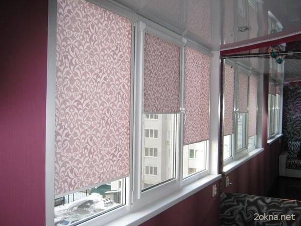 Тканевые рулонные шторы с рисунком