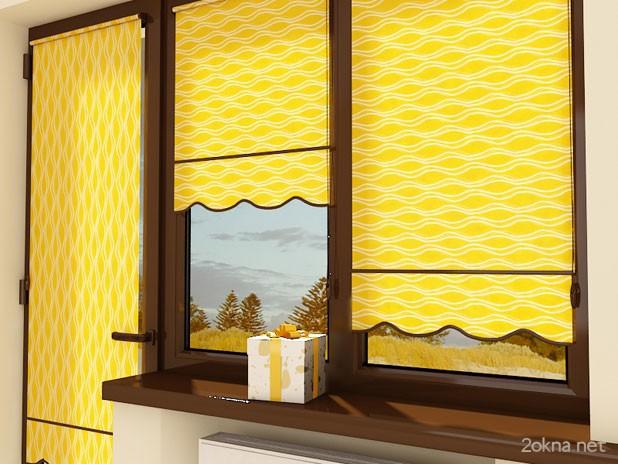 Фото - рулонные тканевые жалюзи на пластиковые окна