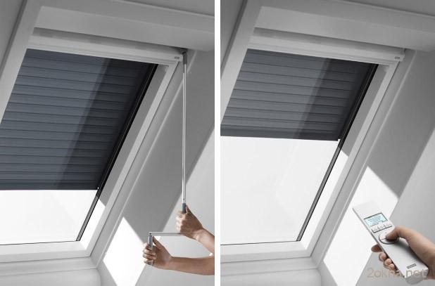 Защитные жалюзи на окна - системы управления