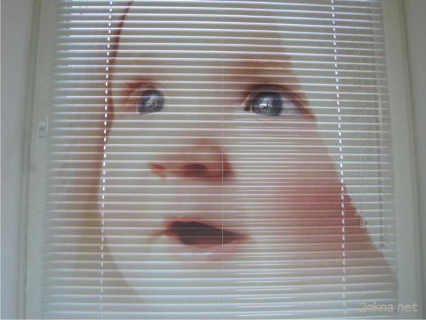 Горизонтальные детские жалюзи с рисунком - фото