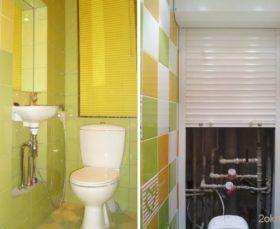 Как закрыть трубы в туалете - жалюзи и рольставни