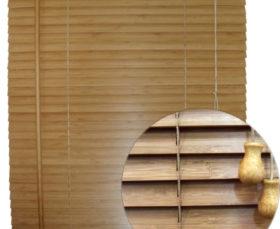 Фото - горизонтальные бамбуковые жалюзи