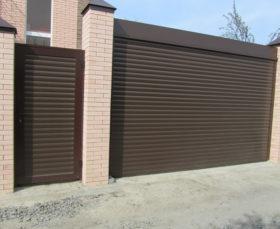 Рулонные ворота для гаража с электроприводом