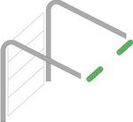 Низкий монтаж подъемно-секционных ворот