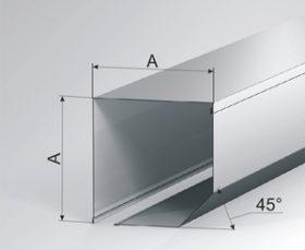 Защитный короб 45°