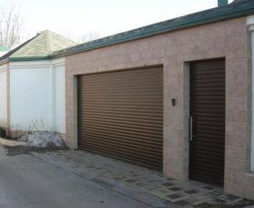 Ворота в гараж рольставни